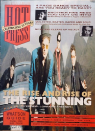 Hot Press, Vol. 16(8) (1992). Mouth open & smiling (2 men).