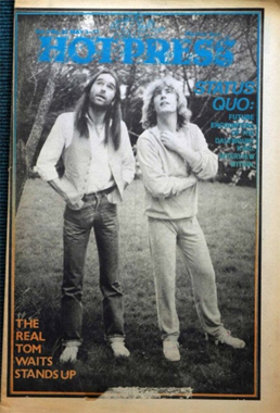 Hot Press, Vol. 2(23) (1978). Mouth open & at rest.
